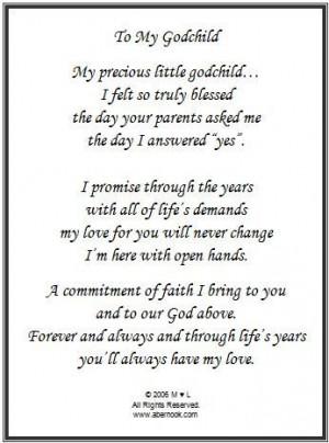 Godparents Poem Godchild Image