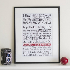 Old English Sayings Art Print by Oakdene Designs 30% OFF was $20.03 $ ...
