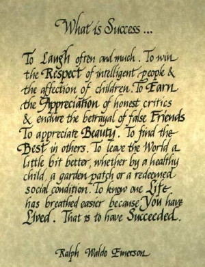 Success by Ralph Waldo Emerson
