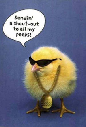 Hip Hop Easter Chick peep