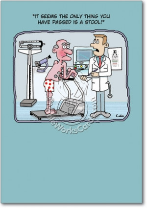 ... Exercise Passed A Stool Humorous Photo Birthday Paper Card Nobleworks