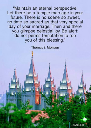 temple marriage prophet quote