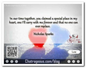 In our time together you claimed – Love Quotes