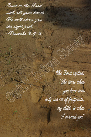 Footprints in the Sand Original Photographic Print 5x7 Matte - 1