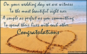 Sweet wedding greetings for a newly married couple Wedding Card Quotes ...