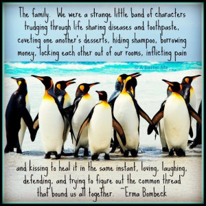 Penguin family quote via A Better Me on Facebook