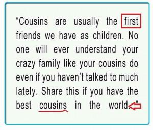 Cousin's