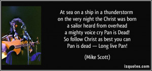 At sea on a ship in a thunderstorm on the very night the Christ was ...