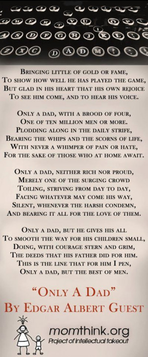 Dads (Edgar Albert Guest)Dads Mak, Dads Birthday, Quotes, Edgar Guest ...