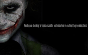 The Joker The Monster Inside Us