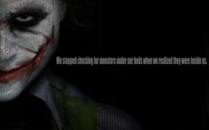 The Joker The Monster Inside Us