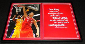 ... > Yao Ming > Yao Ming Rockets Framed 12x18 Photo & Quote Display