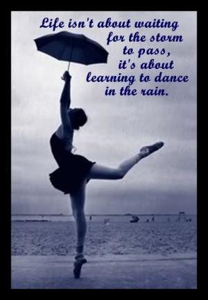 ballerina storm dancing rain life umbrella Image
