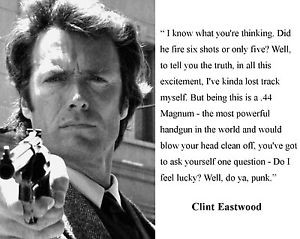 Details about Clint Eastwood Dirty Harry