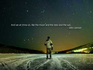 we all shine on like the moon the beatles picture quote
