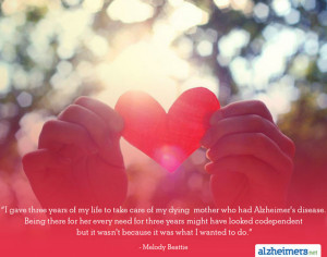 Quote: I Wanted to Be A Caregiver