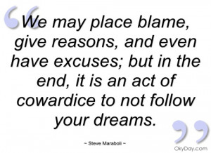 we may place blame steve maraboli