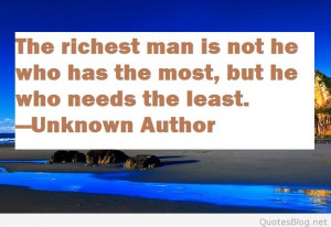 Rich man quote card