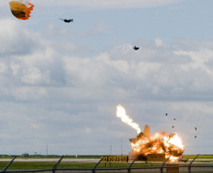 Plane Crash Pilot Ejection Perfectly Timed Photo