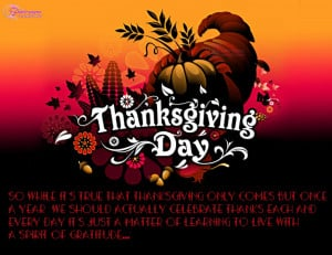 Happy Thanksgiving Food Greetings Card With Quote Card and Sayings for ...