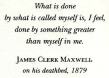 James Maxwell quote (1879)