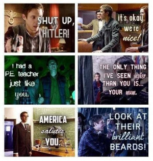 look at their brilliant beards rory doctor who