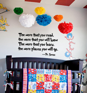 "The more that you read"" Dr Seuss Quote in Vinyl $2.45 Shipped"