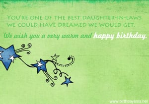quotes for daughter in law birthday