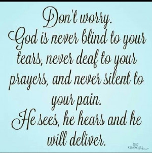 God will never leave you.Thoughts, God Will, Prayer, Christian, Faith ...