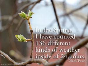 Spring Weather Rain Spring weather quote mark
