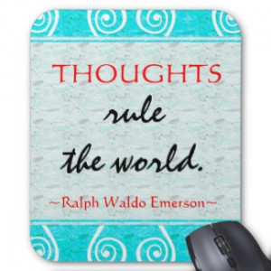 Emerson's Motivating Quote Mousepad