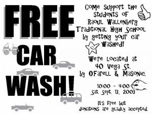 Car Wash Fundraiser Flyer Image