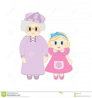 Neta mantida avó pela mão.