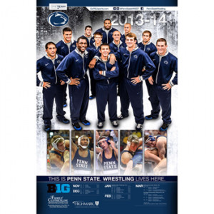2013-14 Penn State Wrestling Schedule Poster