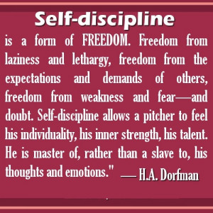 Self Discipline Is a form of Freedom ~ Freedom Quote