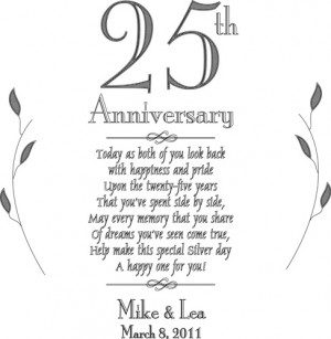 25th anniversary plate serving tray personalized keepsake 25th ...