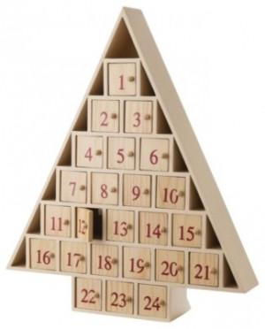 wooden christmas tree advent calendar
