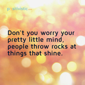 encouragement not to worry: quote encouragement worry rocks people ...