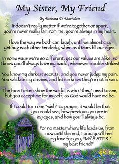 Sister Poems   Affordable Inspirational Poem for Sister, birthday ...