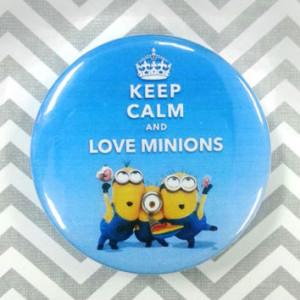 Keep Calm and Love Minions (Despicable me) meme - 1.75