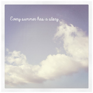Summer, Sky, Clouds, Vintage, Polaroid, Quote, Typography 5x5
