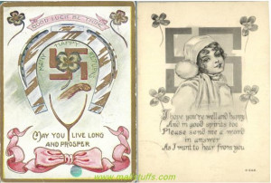 Swastika good luck quotes in american greeting cards