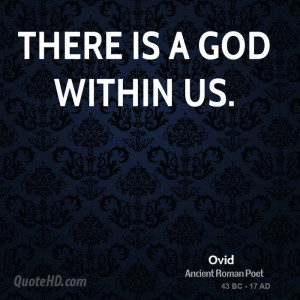 There is a god within us.