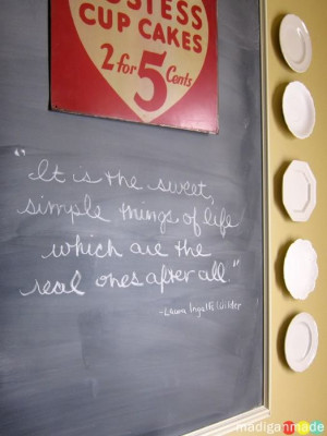 The February chalkboard quote is not about love or sweethearts, but I ...