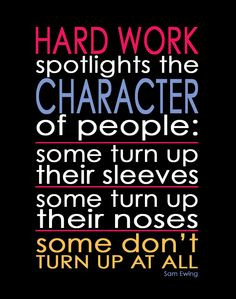 The Classy Cubicle: Monday Muse - Hard Work Quote by Sam Ewing. The ...