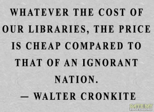 "... ."" -Walter Cronkite Click through for more quotes on education"