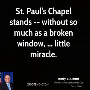 St. Paul's Chapel stands -- without so much as a broken window ...