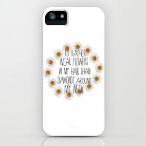 rather wear flowers in my hair iPhone & iPod Case by Sara Eshak
