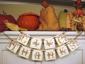 Give Thanks fall banner by Bekahjennings via Etsy