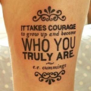 Foot Tattoo Quote Design Ideas